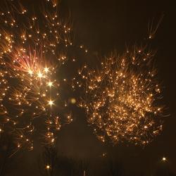 Een vuurwerk kerstboom aan de hemel!
