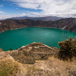 Kratermeer Quilotoa @ Andes, Ecuador