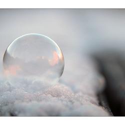 Heldere zeepbel