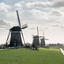 De drie molens in de polder