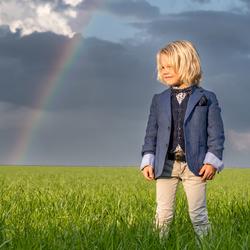Het geluk van een regenboog