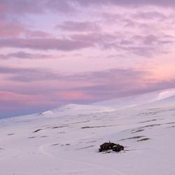 Ochtendgloren in de Noorse bergen