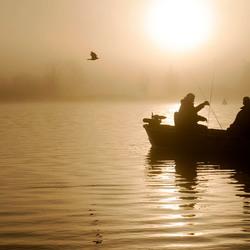 Fishing on the Zaan.