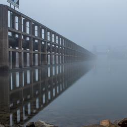 Lijnenspel in de mist