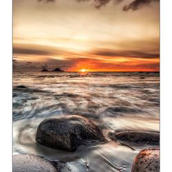 Zonsondergang in Cornwall
