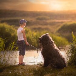 Samen vissen met je beste vriend