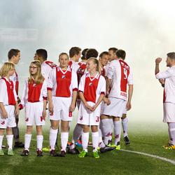 moment voor de wedstrijd