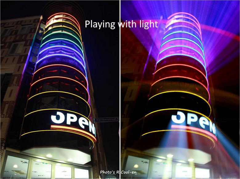 Playing with light 2 - Hier een foto zonder effect en met effect<br /> Het is leuk om met licht te spelen en dingen uit te proberen!