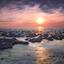 Zonsondergang Waddenzee bij Koehool
