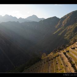 De terassen van Machu Picchu