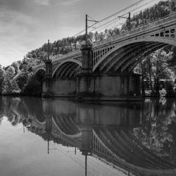 Spoorbrug in Cahors Frankrijk