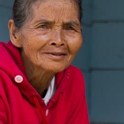 Batak vrouw op Sumatra