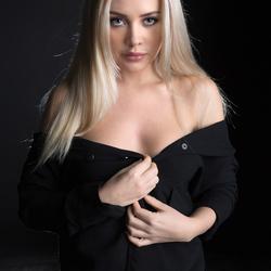 Amber in black jacket