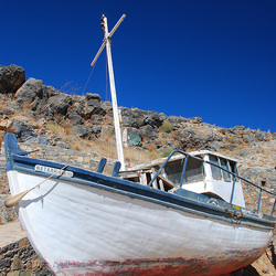 Het typisch Griekse bootje Natali