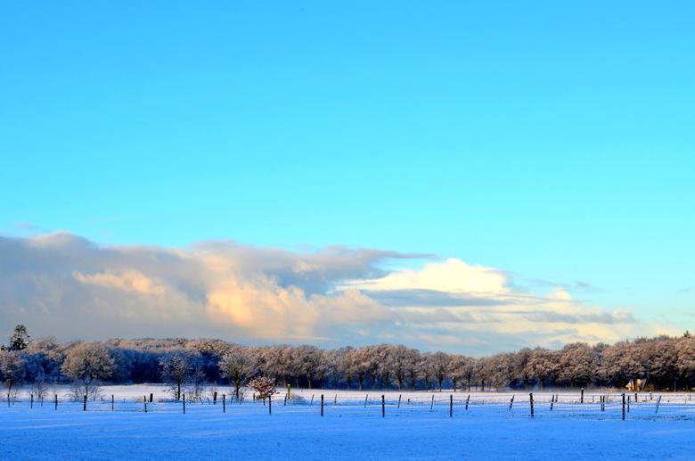 Laplânske taferelen yn Fryslân  - Het Friese sneeuwlandschap bij zonsopkomst