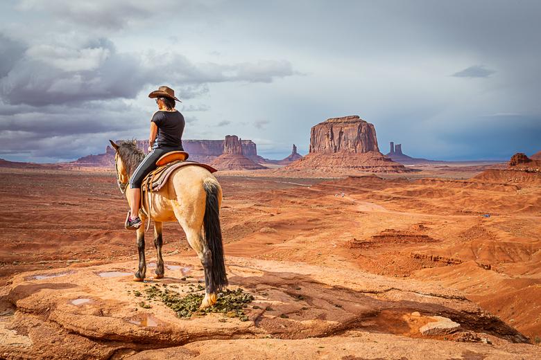the wild wild west - Genietend van het prachtige uitzicht van Monument Valley VS.