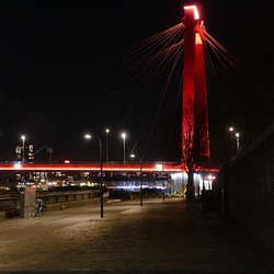 Maaskade bij nacht