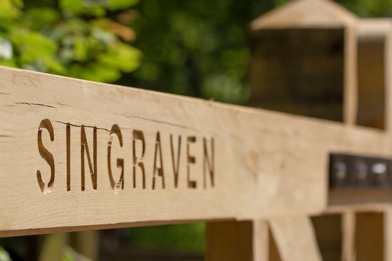 Landgoed Singraven - Houten hek bij landgoed Singraven