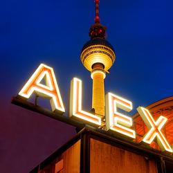 Alexanderplatz by night.