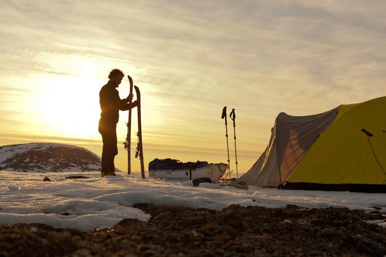 Solo avontuur  - Tijdens een solo avontuur in het noordpoolgebied van Canada was het zelden mooi weer. Dit zelfportret weerspiegeld voor mij het eufor