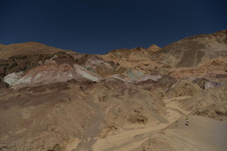 Artist's Drive schilderspalet -  (full vieuw).De Artist's Drive, een route van veertien kilometer over een verharde weg door vulkanisch landschap