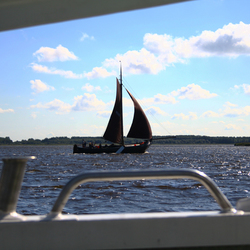 Uitzicht vanuit de boot