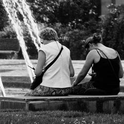 Sociaal contact tussen moeder en dochter!