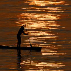 Peddler in the sunset