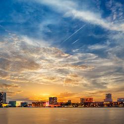 Almere Skyline sunset
