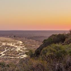 Olifants redt camp Kruherpark sunset