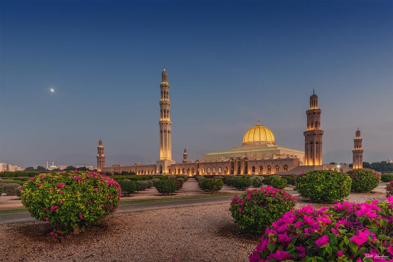 Sultan Qaboos Mosque - Sultan Qaboos Mosque even na zonsondergang - Muscat | Oman