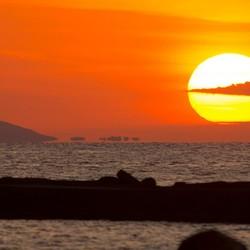 Kreta ondergaande zon