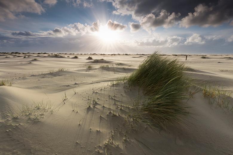 Zonsondergang op Texel - Zonsondergang op strand De Cocksdorp, Texel