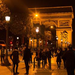 L'arc de Triomphe a nuit