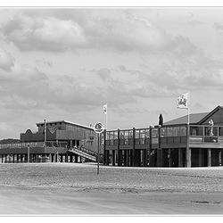 Strandpaviljoen (zwart/wit)