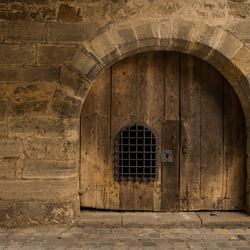 Oude houten poort