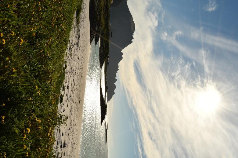 Lofoten, Andenes, tegenlicht - Tegenlicht opname in Andenes, Lofoten Noorwegen