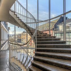City stairs
