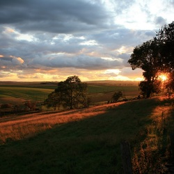 Schotse zonsondergang