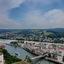 overzicht van de stad Passau.