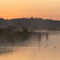Vroege ochtend aan de Oude IJssel