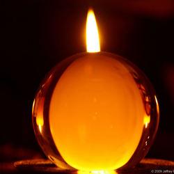 Candles Through Crystal Ball