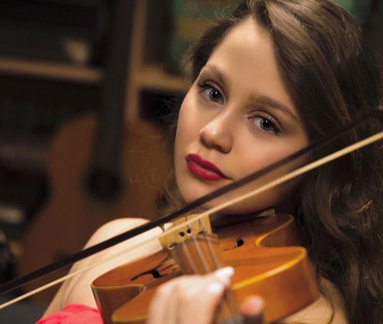 Aya op viool -