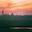 Middelburg bij zonsondergang