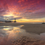 Pier en Reuzenrad Scheveningen tijdens zonsondergang
