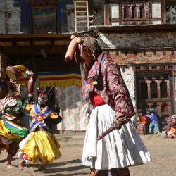 Traditioneel Festival Bhutan