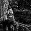 heksje in het bos