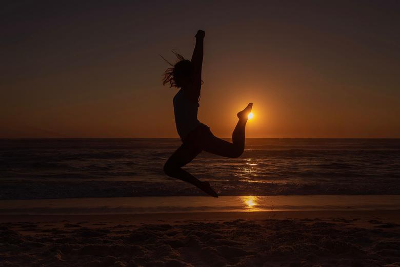 Dancing on the beach -