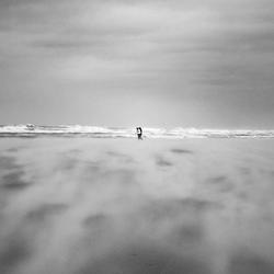 Walking trough the storm.