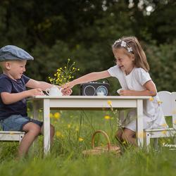 High tea in het park!